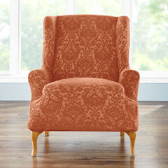 BH Studio Ikat Stretch Wing Chair Slipcover,