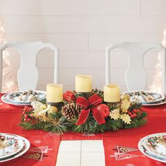 Pre-Decorated Candle Holder Centerpiece,