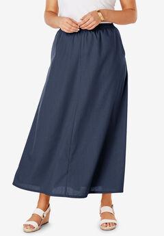 Linen Maxi Skirt,