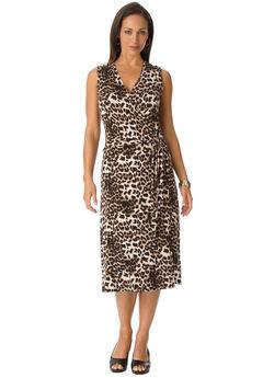 Sleeveless Wrap Dress,