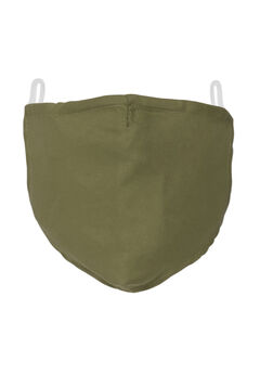 2-Layer Extra Large Reusable Cotton Face Mask - Men's, OLIVE