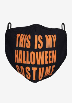 2-Layer Extra Large Reusable Cotton Face Mask - Men's, HALLOWEEN COSTUME