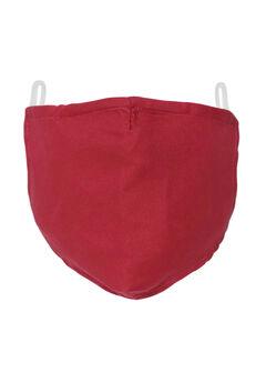 2-Layer Extra Large Reusable Cotton Face Mask - Men's, RICH BURGUNDY