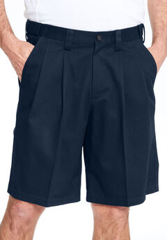 Wrinkle-Free Expandable Waist Pleat Front Shorts,
