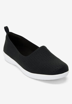 The Alessia Flat by Comfortview®, BLACK