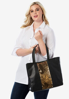 3-Piece Sequin Tote Set,