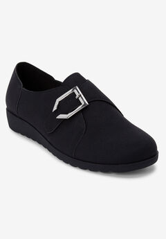 The Noemi Flat by Comfortview®, BLACK
