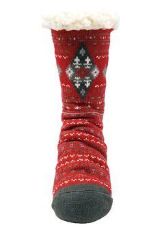 Diamond Fairisle Slipper Sock Slipper Socks,