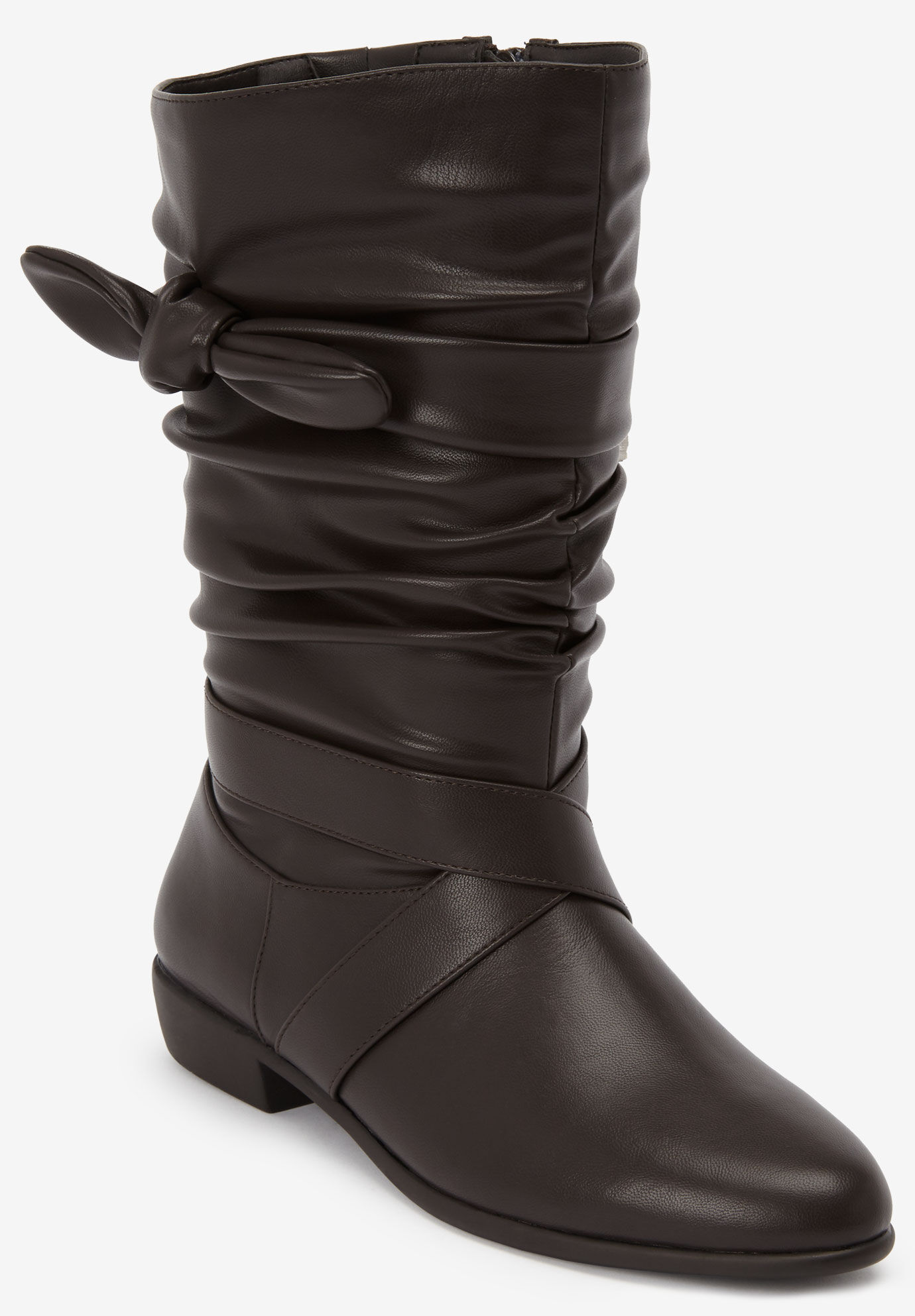 Comfortview Womens Wide Width The Adelyn Wide Calf Boot