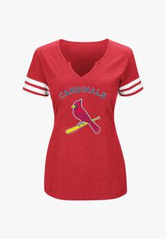 Cardinals V-Neck Slub Tee,