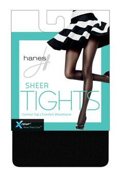 Hanes X-Temp Sheer Control Top Tights with Comfort Waistband,