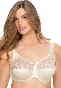 Underwire Lace Top Full Support Bra by Aviana® ,