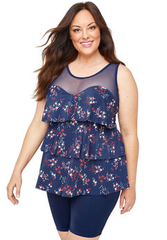 Shooting Star Flounce Tankini Top,