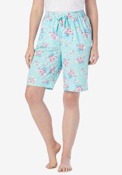 Cotton Poplin Pajama Shorts,