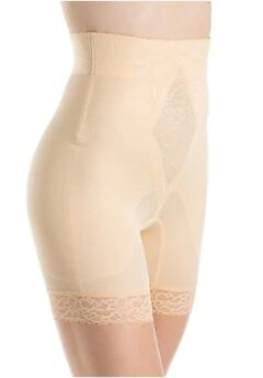 "Rago ""No Top Roll"" High Waist Long Leg Shaper,"