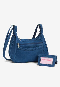 denim bag & wallet set,
