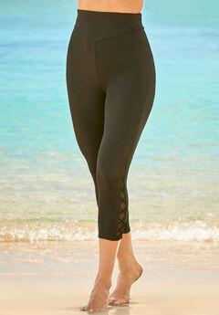 High-Waisted Swim Capri,