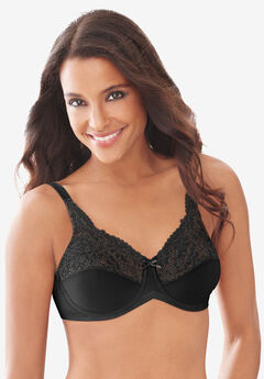 Lace-Trim Tailored Minimizer® Bra 428 ,
