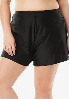 Loose Swim Short with Built-In Brief ,