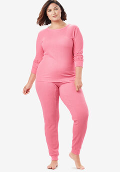 Thermal Long Sleeve Tee , DAZZLING PINK