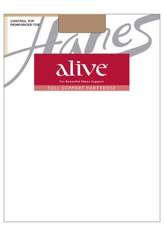 Hanes Alive Control Top Reinforced Toe 6-Pack,
