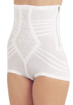 "Rago ""No Top Roll"" Shapette High Waist Brief w/ Zipper,"