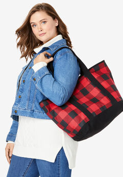 Plaid Canvas Tote,