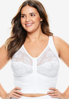 Front-Close Longline Wireless Posture Bra ,