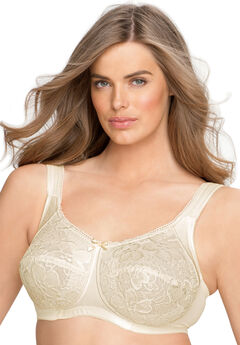Wireless allover lace bra,