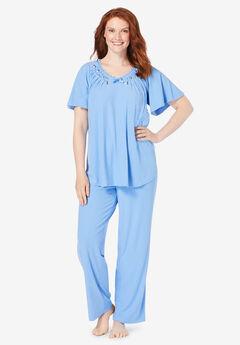 2-Piece Rib Knit Pajama Set,