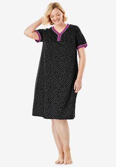 Short Henley Sleepshirt ,