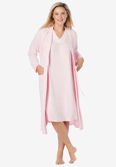 Knit Gown and Robe Set,