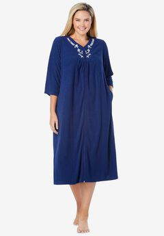 Embroidered Terry Robe,