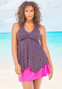 Flared Halter Tankini Top ,