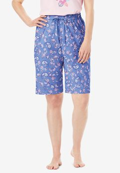 Cotton Poplin Pajama Shorts ,