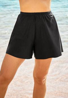 Loose Swim Short with Built-In Brief ,
