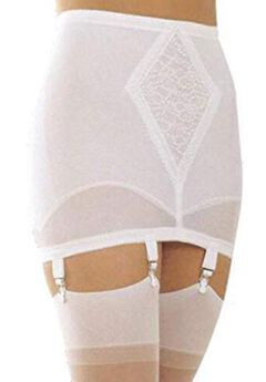 Rago Open Bottom Girdle Medium Shaping w/ Garters,