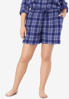Flannel Pajama Short ,