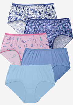 5-Pack Pure Cotton Full-Cut Brief ,