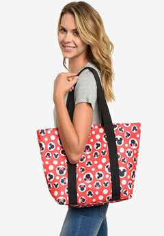 Disney Mickey & Minnie Mouse Women's Zip Tote Bag,