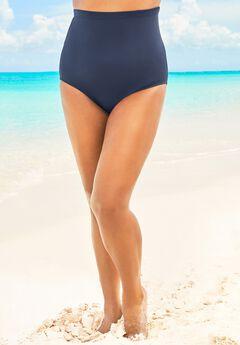 High-Waist Swim Brief with Tummy Control ,