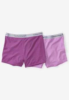 2-Pack Stretch Knit Boyshort by Comfort Choice®,