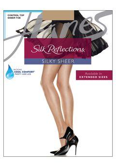 Silk Reflections Control Top Sheer Toe Pantyhose,