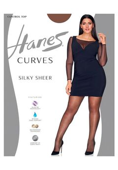 Hanes Curves Ultra Sheer Control Top Legwear,