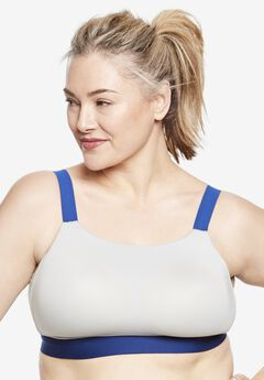 Moderate-Impact Sport Bra by Comfort Choice®, PEARL GREY