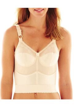 Cortland Intimates Embroidered Soft Cup Long Line Bra,
