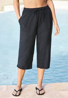 Taslon® Capri Coverup Pant ,
