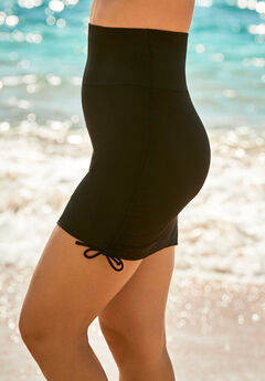 Shirred Swim Skirt,