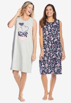 2-Pack Sleeveless Sleepshirt ,