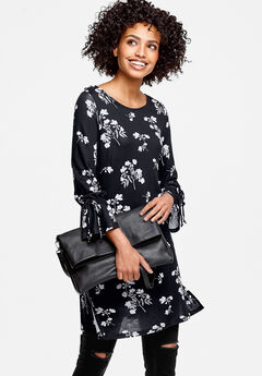 Floral Tie-Sleeve Tunic by ellos®,
